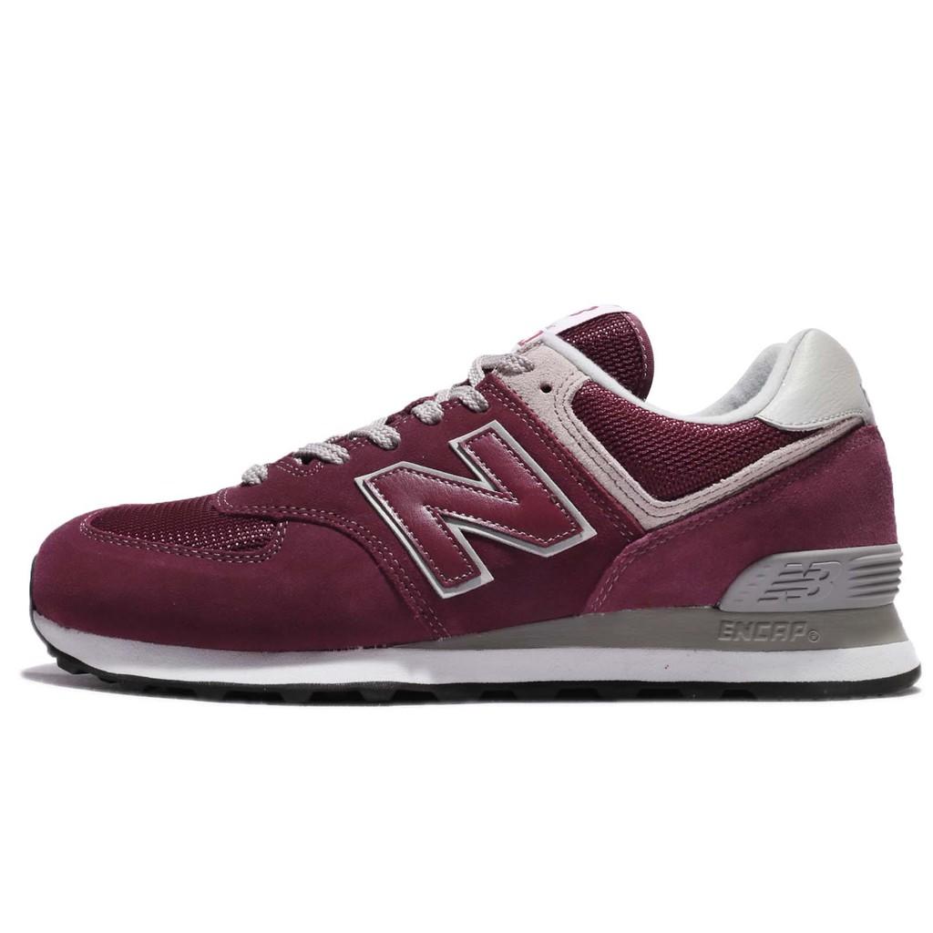 New Balance 復古慢跑鞋 NB 574 紅 灰 男鞋 女鞋 ML574EGBD 【ACS】