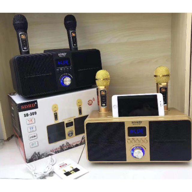 2020最新版SD309  SD301 SD306  手持卡拉OK SDRD309貓頭鷹  音響 一鍵消音 雙人對唱