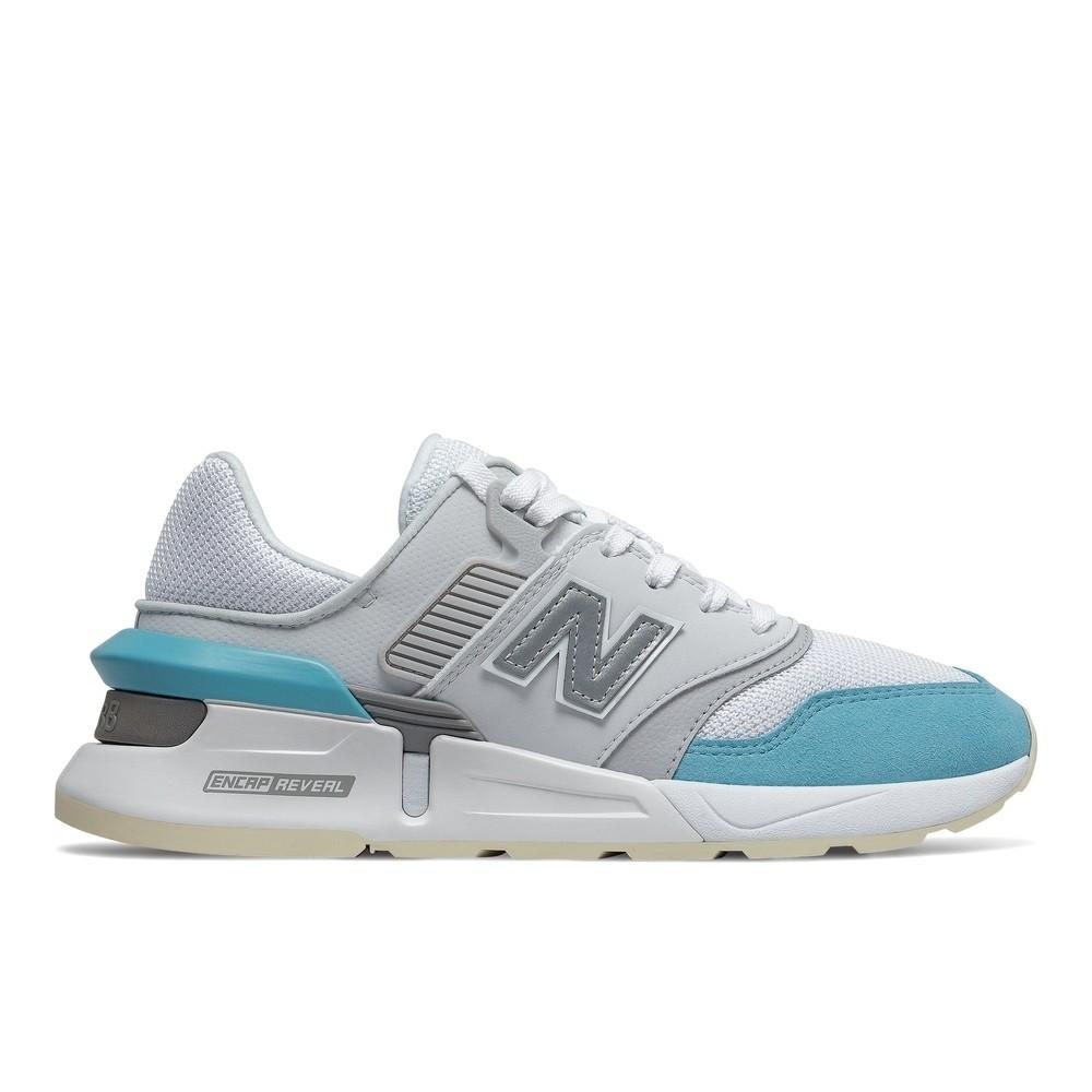NEW BALANCE 白灰藍 反光 休閒鞋 女款 WS997GFK