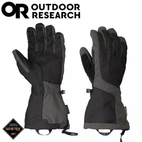 【Outdoor Research 美國 男 ARETE Gore-Tex防水手套《黑/碳灰》】271615/保暖手套