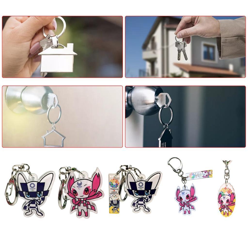 東京奧運會設計亞克力鑰匙扣吉祥物會徽吊墜紀念品禮品   健身運動鍛煉裝備配件