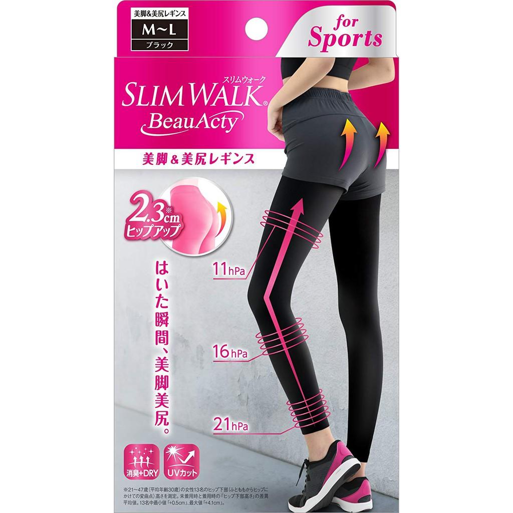 SLIM WALK纖伶 抗紫外線uv 消臭 快乾 3D提臀美腿襪S-M / M-L【JE精品美妝】