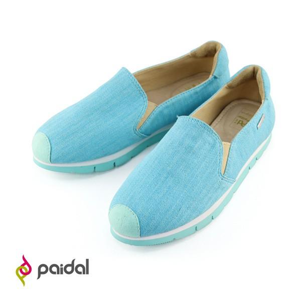 Paidal 繽紛活力休閒鞋樂福鞋-天空藍