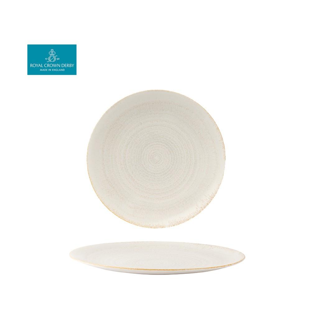【Royal Crown Derby】E.C.O.大地系列-27CM餐盤-珍珠白