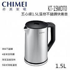 CHIMEI 奇美1.5L五心級智能溫控不鏽鋼快煮壺KT-15MDT0