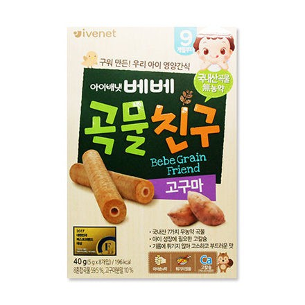 愛唯一 IVENET 穀物棒棒40g-番薯風味【佳兒園婦幼館】