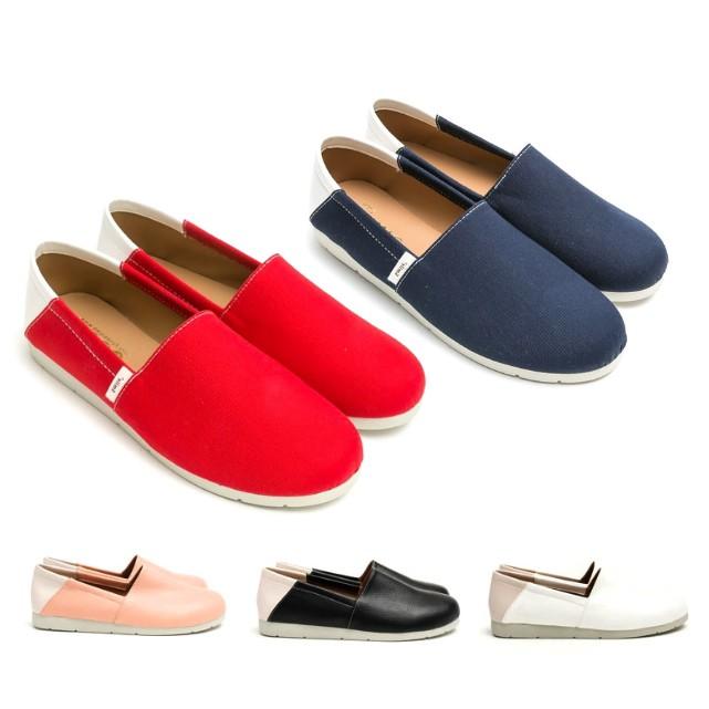 【白鳥麗子】MIT獨家款 懶人鞋 百搭拼接皮革帆布包鞋