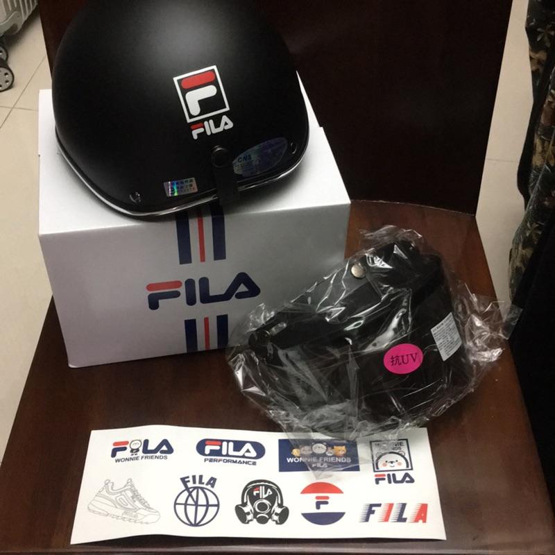 FILA安全帽(附眼睛防護具+安全帽貼紙)