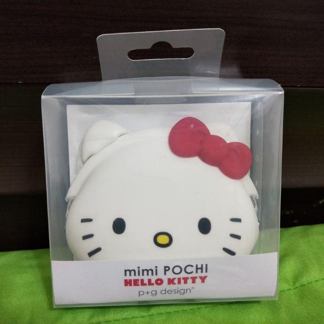 Hello Kitty 頭型矽膠夾扣零錢包