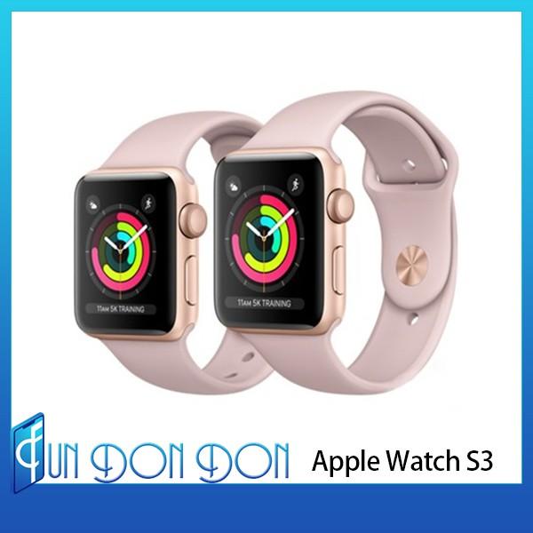 【FUNNY DON DON 3C】蘋果 Apple Watch S3 42mm 金色鋁金錶殼+粉沙色錶帶 原廠未拆現貨