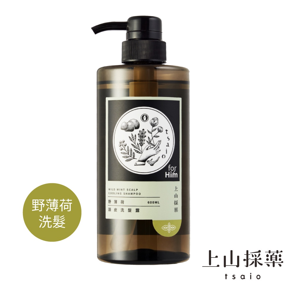 【tsaio上山採藥】男性系列-野薄荷頭皮洗髮露600ml
