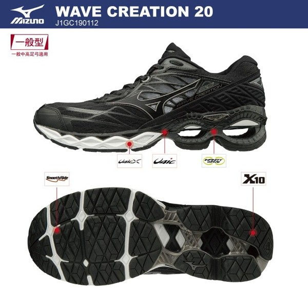 [ROSE] Mizuno WAVE CREATION 20 男鞋 慢跑 J1GC190112 特價3180 19/06