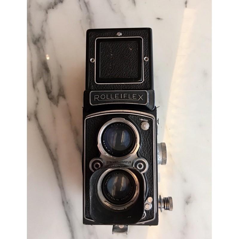 rolleiflex automat   tessar 75/3.5 腰平雙眼120底片相機