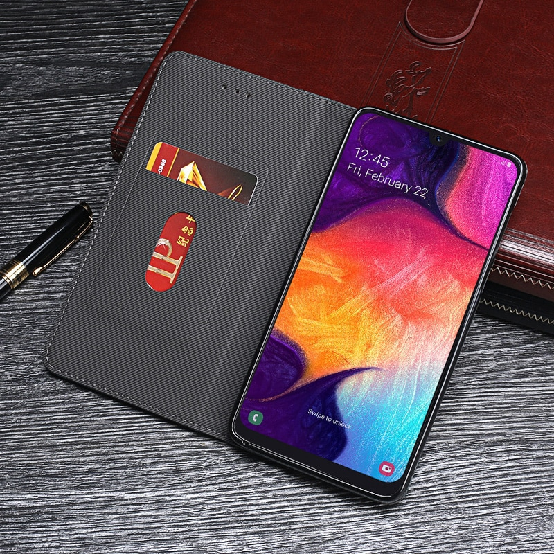 XEJK SALESamsung Galaxy A50 Case Cover Luxury Leather Flip A