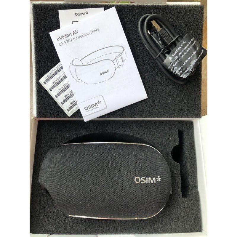 全新現貨OSIM 護眼樂 Air OS-1202溫熱 氣壓 眼部按摩 太陽穴 眼罩 眼壓 葉黃 USB充電 保固一年
