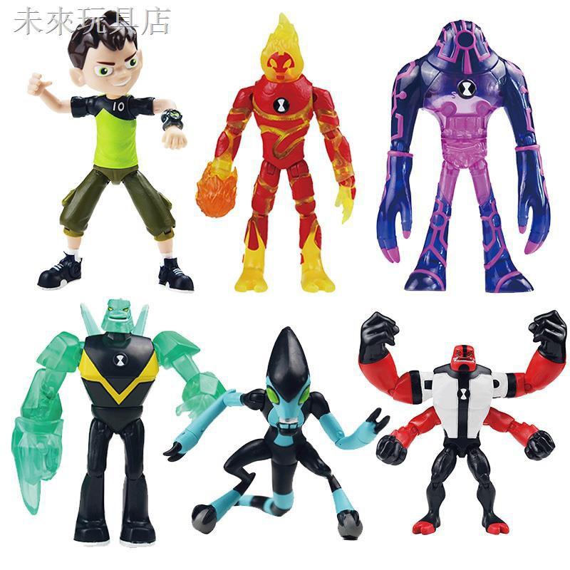 ◕◇少年駭客ben10玩具田小班火焰人四手霸王外星人英雄變形可動玩具
