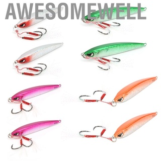 Awesomewell 鋒利結實的釣魚配件,80克金屬鐵板