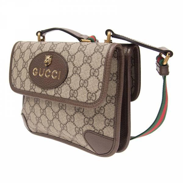 Gucci GG Supreme 501050 老虎浮雕裝飾小款雙層包