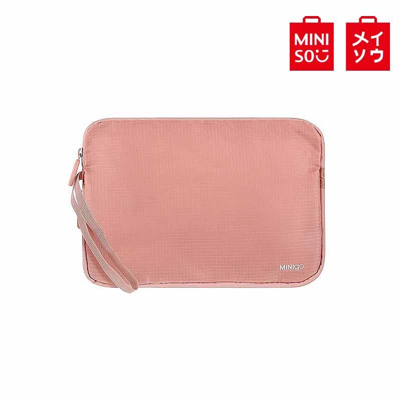 【MINISO名創優品】minigo2.0擴容收納包大號(粉色)