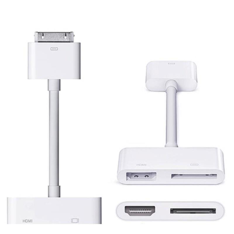 蘋果iphone4S手機連接電視投影儀轉換線IPAD2/3轉HDMI高清轉換器#下殺*小丸子精選