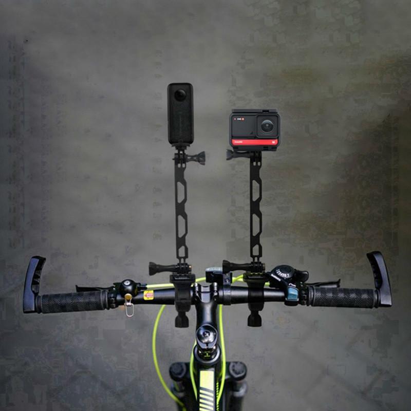 Insta360 One R X2 騎行支架自行車摩托車車把自行車夾固定座, 用於 Gopro Max Hero 9 8