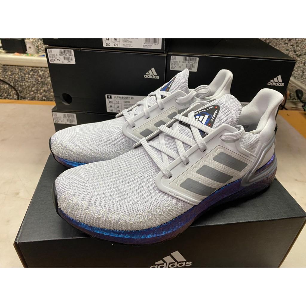"【現貨】Adidas Ultraboost 20 ""Space Race"" 灰 藍 宇宙 EG0755"