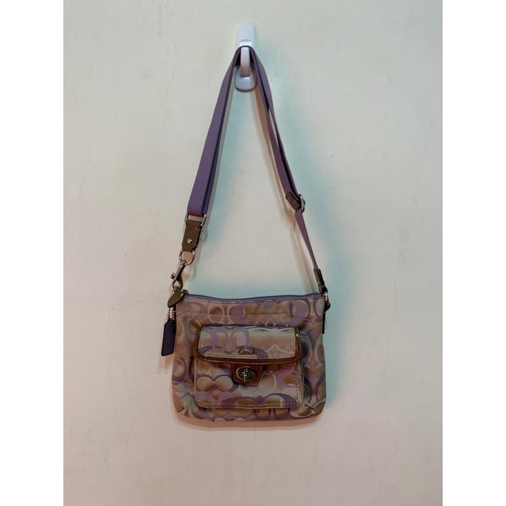 「 二手包 」 COACH 斜背包(紫色)鐵1