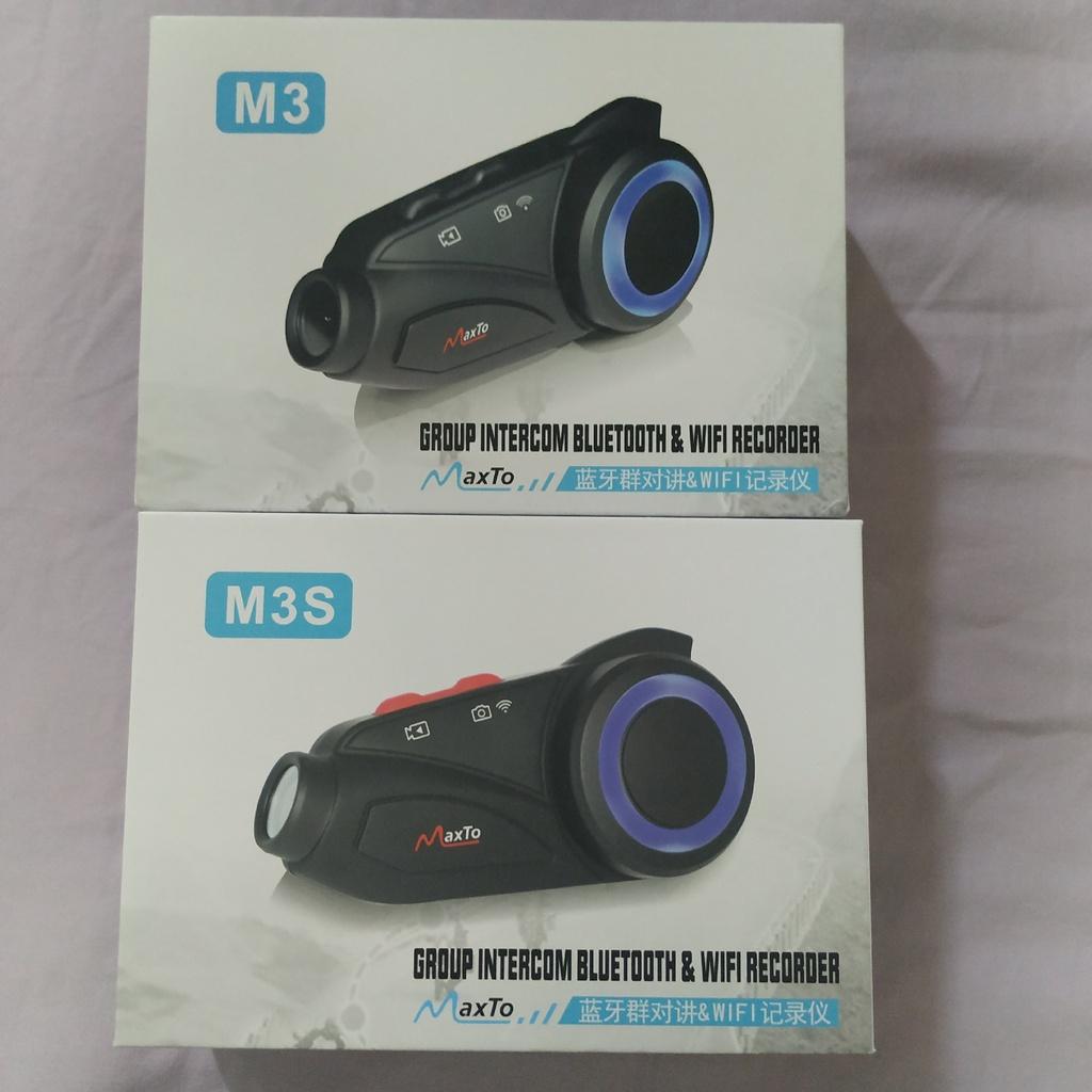 臺灣現貨  MaxTo M3 行車紀錄器 1080P 安全帽藍牙耳機 機車行車紀錄器 高清錄影 藍芽耳機【奈斯電子科技】