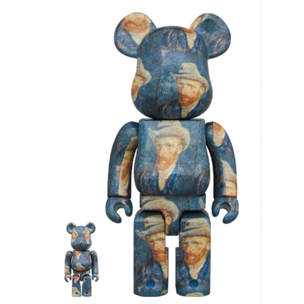 現貨 Be@rbrick 400% 100% 梵谷 自畫像 Van Gogh 庫柏力克熊