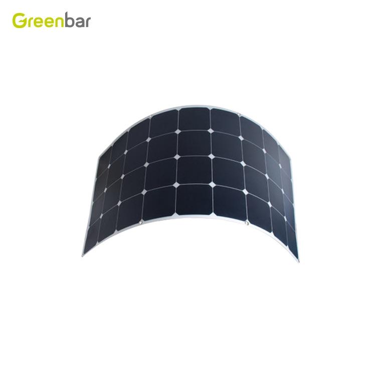 半柔性太陽能板120W 高效轉換 戶外汽車太陽能電池板SUNPOWER