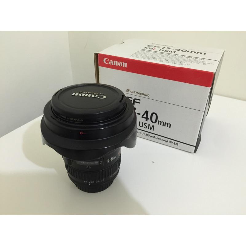 Canon 17-40 F4 L 鏡頭