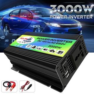 太陽能逆變器3000W峰值電壓互感器轉換器直流12V至AC 220V車載逆變器,用於太陽能逆變器家用電器