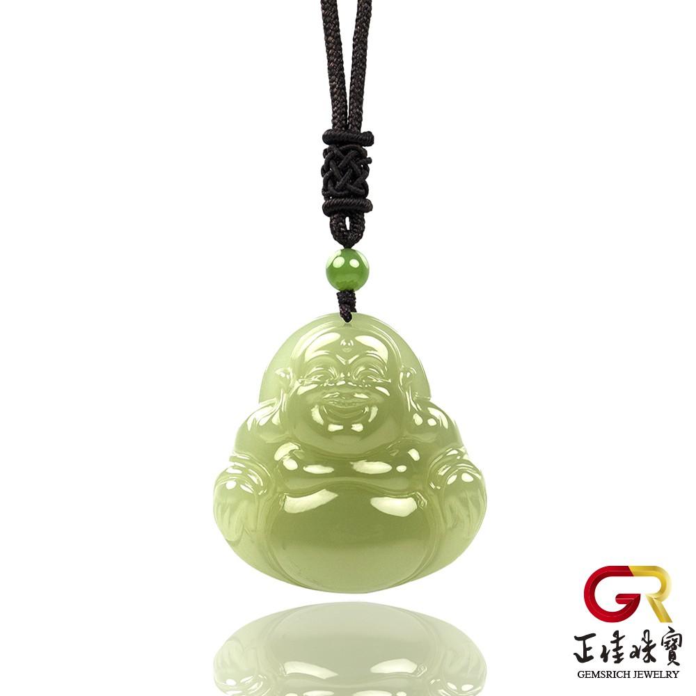 和田玉 頂級溫潤黃口料大肚佛吊墜 和田玉吊墜|特製中國結棉繩 正佳珠寶