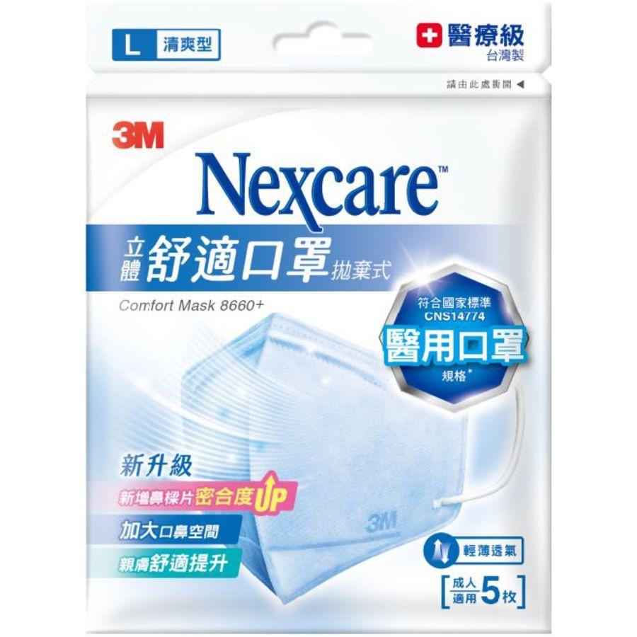 【JOJO】醫療級口罩舒適口罩拋棄式清爽型5片包:M/L