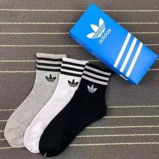 【24小時發貨】ADIDAS 潮品襪子 情侶中筒襪 純棉 防臭運動短襪 籃球襪