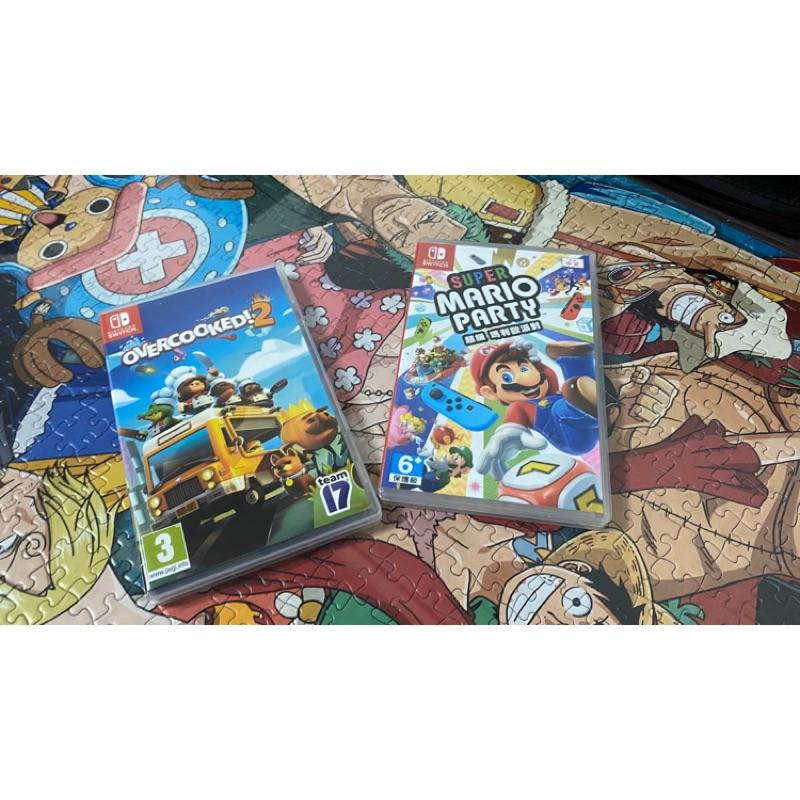 Switch 二手遊戲片 overcooked 煮過頭2 瑪利歐派對Mario Party 寶可夢伊布+精靈球