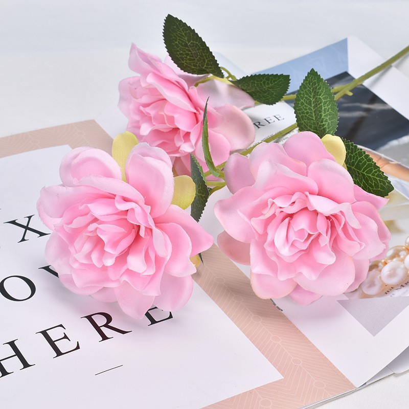 【欣欣】仿真花梔子花3頭用於婚慶布景家居裝飾攝影道具插花擺件