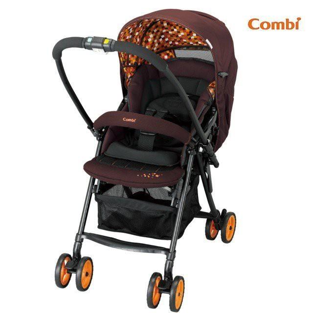 康貝 Combi Well Comfort EG 超輕量 豪華雙向嬰兒推車 嬰兒車 手推車 (繽紛橘) 二手