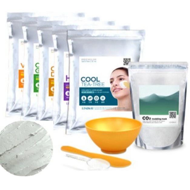 [Lindsay] 韓國美學和水療使用韓國面部橡膠造型 (粉) 面膜包 12 種類型 (維生素 1 公斤 / 膠原蛋白
