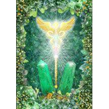 畫108【佛化人生】現貨 翡翠與療癒權杖 Jade- 水晶天使系列畫