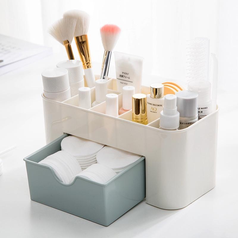 化妝品收納盒 22X10.7X10.5CM 抽屜化妝品收納盒化妝刷整理盒