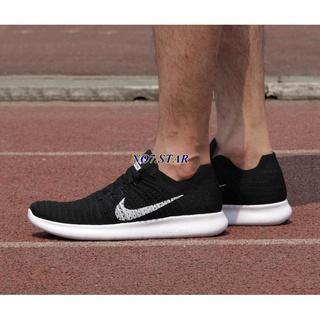 Nike Free RN Flyknit 黑白 雪花 襪套 針織 赤足 5.0 編織 慢跑 男女鞋 831069-001