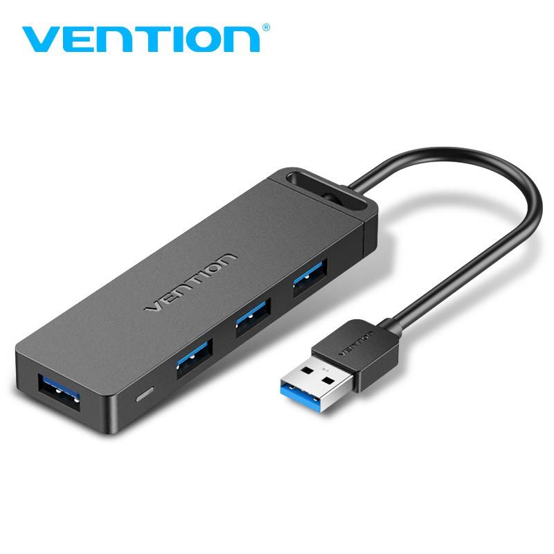 Vention USB 3.0分線器一分四 HUB 多功能擴充充電器 可充電讀數據 Micro USB供電