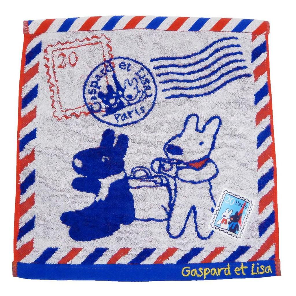 【麗莎和卡斯柏】 擦手巾/方巾-郵戳