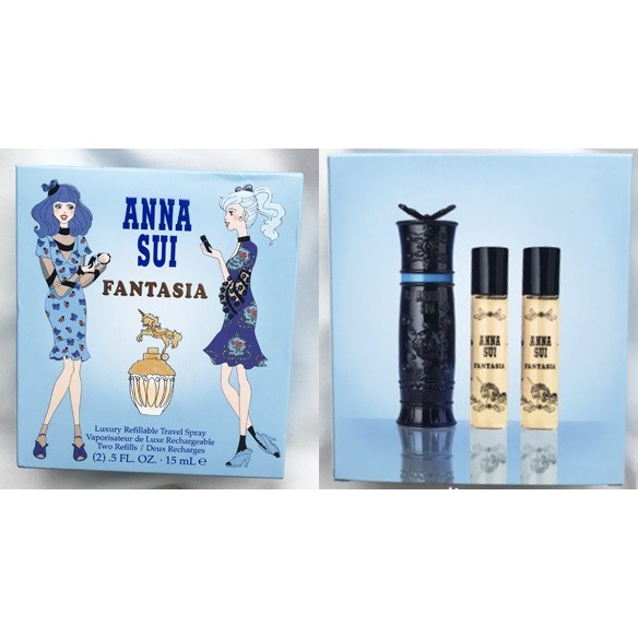 Anna Sui安娜蘇 Fantasia童話獨角獸 淡香水 香頌隨身瓶 香水禮盒