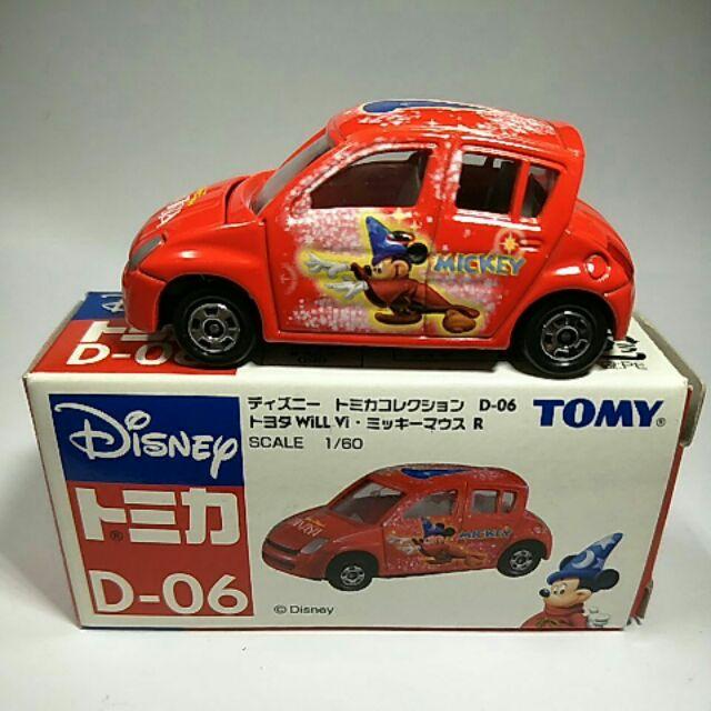 31絕版舊藍標Tomy tomica D-06toyoya Vi紅色魔法米奇車
