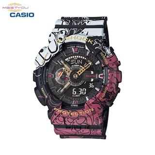 卡西歐 G-Shock 一件關節路飛打開第四檔 Ga-110Jop-1A4 Jam Tangan 數字電子手錶防水龍珠