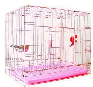 單門2尺粉紅色靜電式狗籠靜電烤漆摺疊籠狗籠+飲水器+白鐵碗☆米可多寵物精品福袋組☆ 新北市