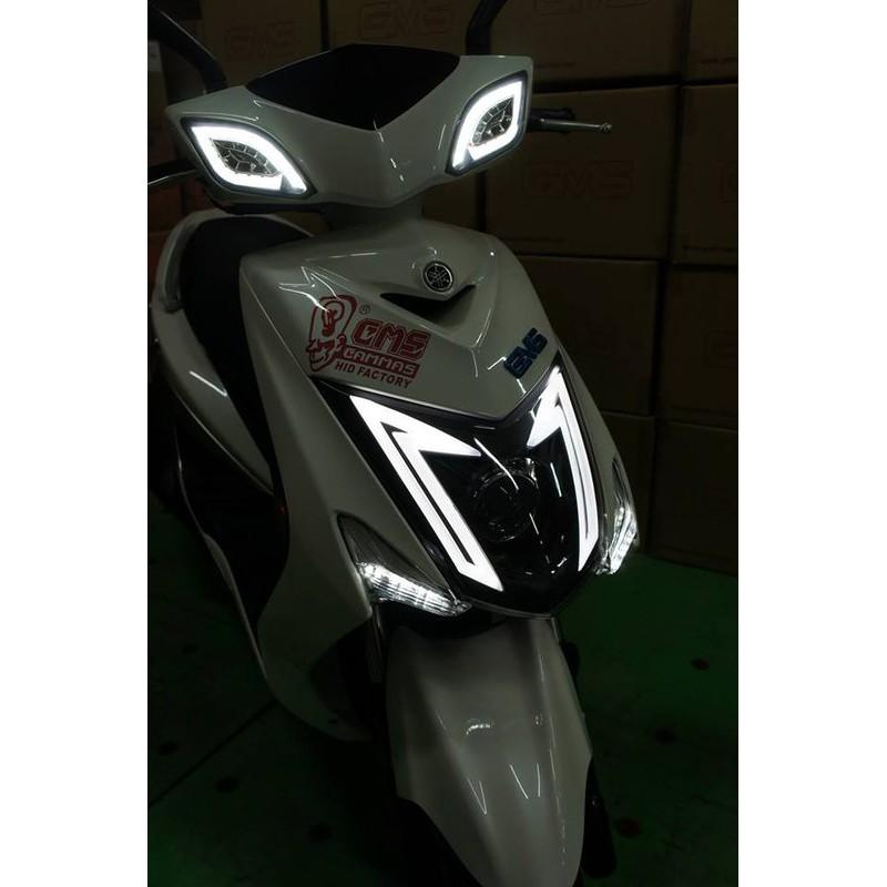【阿拉神燈】勁戰三代目 合法魚眼大燈組 認證大燈 導光條 日行燈 M3 GMS