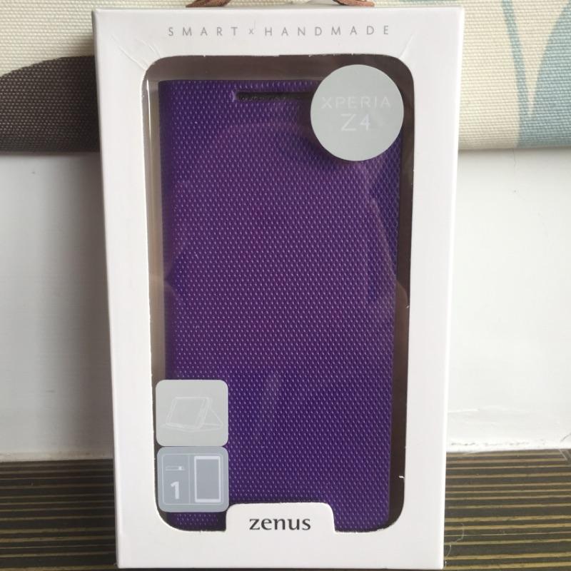 Zenus Sony Xperia Z3+/4 金屬風範 書本式皮套 紫